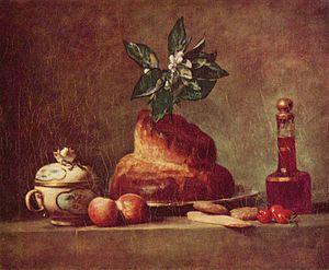 Brioche - Still life with brioche, Jean-Baptiste-Siméon Chardin, 1763