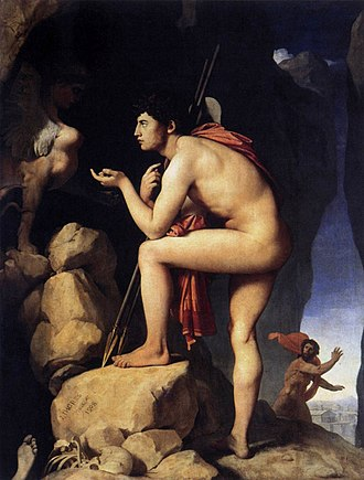 Jean-Auguste-Dominique Ingres - Oedipus and the Sphinx (1808), Louvre