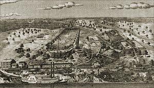 Jefferson Barracks Military Post - Jefferson Barracks at the time of the Civil War.