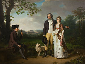 Jens Juel (painter) - Niels Ryberg with his Son Johan Christian and his Daughter-in-Law Engelke, née Falbe