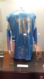a5619edbb Signed jersey worn by Diego Maradona during his tenure on Italian club  Napoli