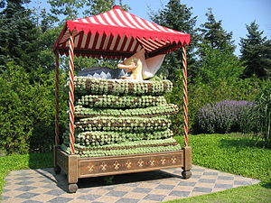 The Princess and the Pea - The Princess and the Pea in the Danish floral park Jesperhus