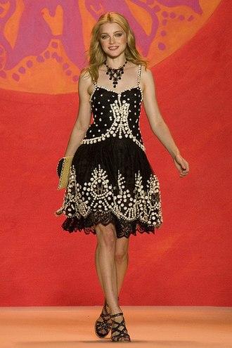 Jessica Stam - Stam at the Anna Sui Show 2009