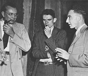 Charles Critchfield - Eric Jette, Charles Critchfield, and Robert Oppenheimer at Los Alamos