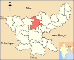Location of Hazaribagh district in Jharkhand
