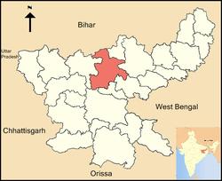 Vị trí của Huyện Hazaribagh
