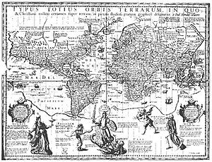 "Edward Wright (mathematician) - Hondius made use of Wright's calculations without acknowledgment in his ""Christian Knight Map"" of 1597, prompting Wright to publish Certaine Errors in Navigation in 1599."