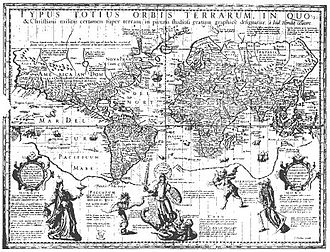 """Edward Wright (mathematician) - Hondius made use of Wright's calculations without acknowledgment in his """"Christian Knight Map"""" of 1597, prompting Wright to publish Certaine Errors in Navigation in 1599."""