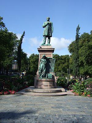 Johan Ludvig Runeberg - Statue of Johan Ludvig Runeberg on Esplanadi in Helsinki, Finland