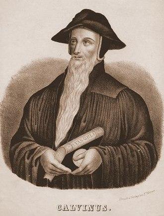 Theology of John Calvin - Lithograph of John Calvin, c. 1830.