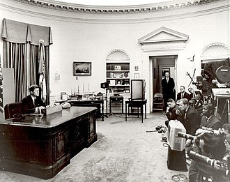 Report to the American People on Civil Rights - John F. Kennedy delivering his speech before television cameras