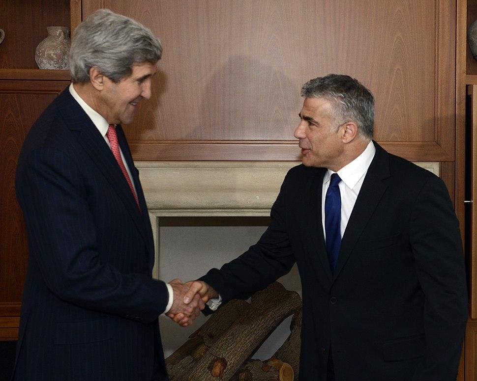 John Kerry visit to Israel December 4-6, 2013. Lapid (11232569904) (cropped)