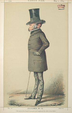 John Townshend, 1st Earl Sydney - Caricature by Ape published in Vanity Fair in 1869.