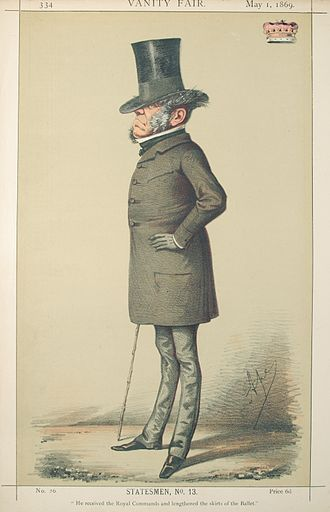 Earl Sydney - Caricature, published in Vanity Fair in 1869.