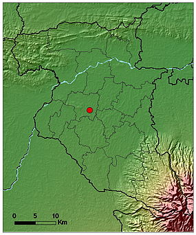 Jombang topography map.jpg