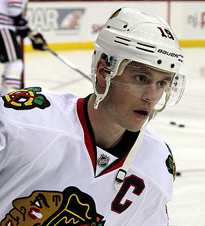 Jonathan Toews - Toews with the Chicago Blackhawks in December 2014