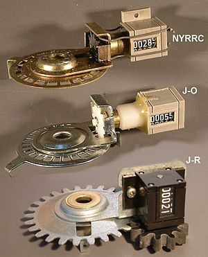 Jones Counter - Jones Counters: Upper- NYRRC model. Middle- Oerth model. Lower- Riegel Model