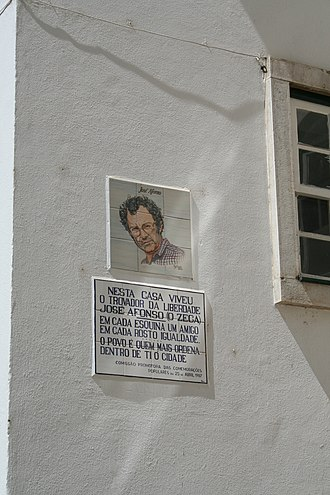 Zeca Afonso - Azulejo in homage at the house in Coimbra, where José Afonso, O Zeca, lived. Known as the troubadour of liberty.