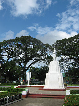 A statue of Jose Rizal in City Plaza of Dapitan.