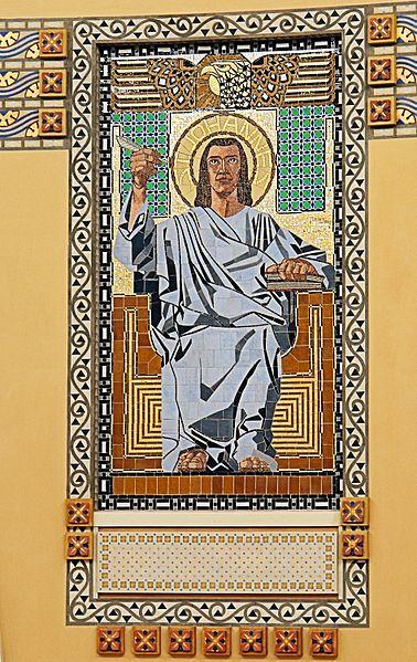 File:Jugendstil Mosaic St John - Friedhofskirche zum Heiligen Karl Borromäus - Max Hegele - Vienna.jpg