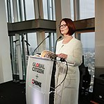 Julia Gillard, Chair of the board, Global Partnership for Education, speaking at the Global Citizen -SheWill event in the Shard, London, 7 July 2016 (cropped).jpg