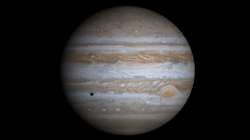 The Position of Jupiter in the Night Sky 2014 to 2018