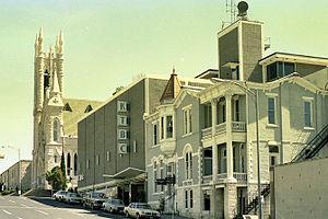 KTBC (TV) - KTBC-TV studios, on East Tenth Street in downtown Austin, circa 1980.