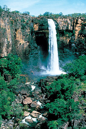 Alligator Rivers - Waterfall - Kakadu National Park after rain.