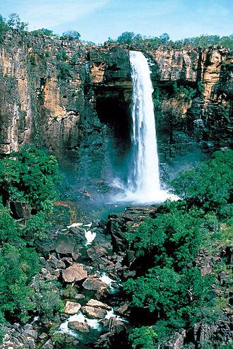 Alligator Rivers - Waterfall - Kakadu National Park after rain.