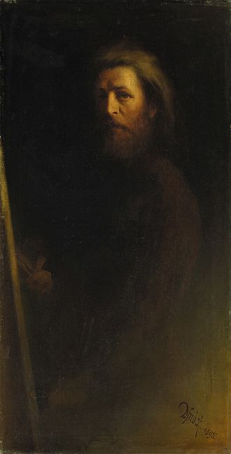 Karl Wilhelm Diefenbach - Image: Karl Wilhelm Diefenbach Selbstbildnis 1895