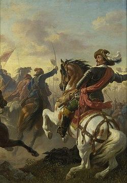 Karl von Blaas - Boucquoi's Sieg bei Zablat (Budweis) 1619 - 2607 - Kunsthistorisches Museum.jpg