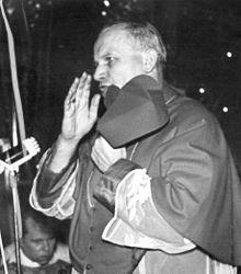 Visita alla chiesa carmelitana della Visitazione della Beata Vergine Maria in Cracovia (fine di giugno del 1967, pochi giorni dopo essere stato nominato cardinale)