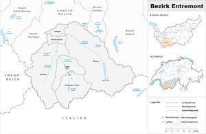 Entremont District - Image: Karte Bezirk Entremont 2007