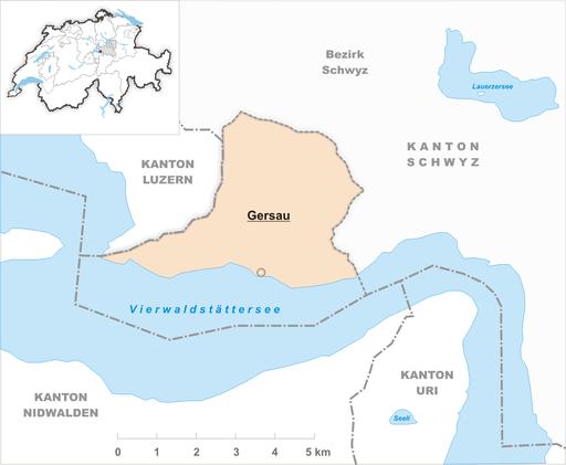 Karte Gemeinde Gersau 2007