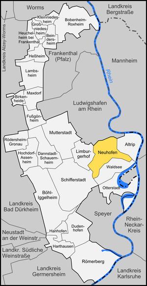 Neuhofen - Image: Karte Neuhofen