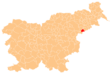 The location of the Municipality of Žetale