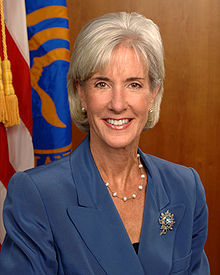 Portrait officiel de K. Sebelius, en 2009.