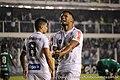 Kayke, atacante do Santos, comemora gol marcado diante do Palmeiras, na vitória do Peixe por 1 a 0, em partida válida pelo Brasileirão 2017 (34929152620).jpg
