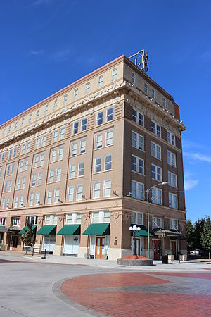 Wichita Falls, Texas - Kemp-Kell Building, circa 1910, now known as the Holt Hotel, was one of the first five-story office buildings in the city.