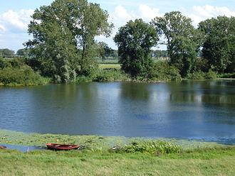 Levee breach - A kolk lake in the Netherlands