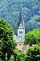 Keutschach Pfarrkirche Sankt Georg von Schelesnitz aus gesehen 17062010 42.jpg