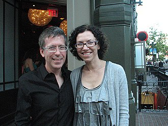 Saw 3D - Saw 3D director Kevin Greutert and his wife, actress Elizabeth Rowin, at San Diego Comic-Con International 2010.