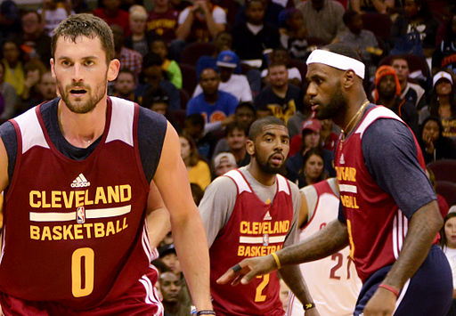 Kevin Love, Kyrie Irving, and LeBron James 2014