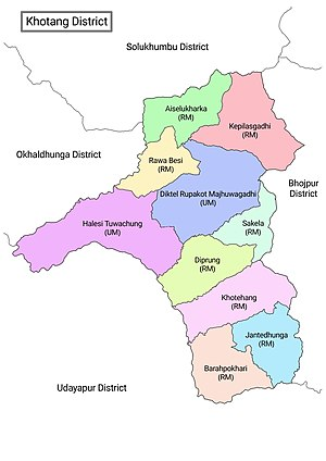 Khotang District with local level body