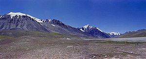Khunjerab Pass - Khunjerab Pass viewed from the Kashmiri side