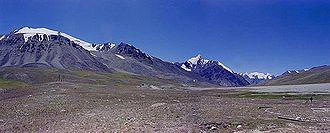 Khunjerab Pass - Khunjerab Pass viewed from the Kashmiri side
