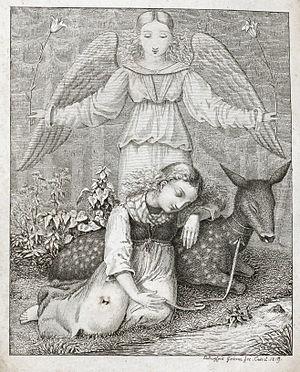 Ludwig Emil Grimm - Image: Kinder und Hausmärchen Titel 2te Ausgabe Frontispiz