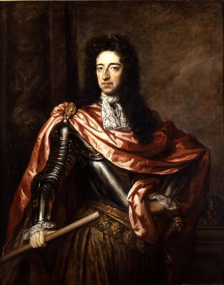 Mary's husband, William of Orange, by Sir Godfrey Kneller King William III of England, (1650-1702) (lighter).jpg