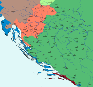 Siege of Gvozdansko - Image: Kingdom of Croatia 1573