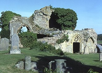 Childhood in Scotland in the Middle Ages - The ruins of Kinloss Abbey, one of the ecclessiastical institutions which opened their doors to a wider range of students in the late Middle Ages